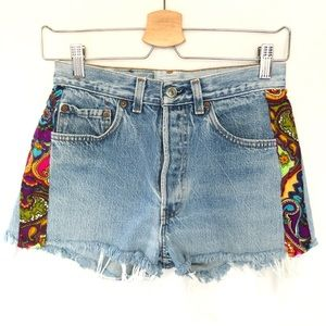 Vintage Levi's 501 high waisted Jean Shorts 29